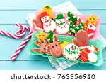 delicious beautiful christmas... | Shutterstock . vector #763356910