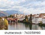 cityscape of bassano del grappa ... | Shutterstock . vector #763358980