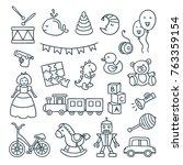 baby toys cute vector...   Shutterstock .eps vector #763359154