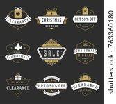 christmas sale badges  labels...   Shutterstock .eps vector #763360180