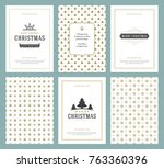 merry christmas greeting cards... | Shutterstock .eps vector #763360396