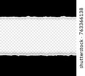 black torn paper edge on... | Shutterstock .eps vector #763366138