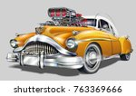 vintage hot rod. | Shutterstock .eps vector #763369666
