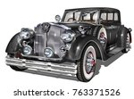 retro car isolated. | Shutterstock .eps vector #763371526