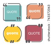 colored quote template. quotes... | Shutterstock .eps vector #763372063
