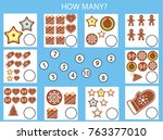 counting educational children... | Shutterstock .eps vector #763377010