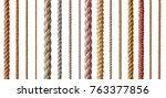 collection of  various ropes...   Shutterstock . vector #763377856