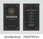 luxury business card and... | Shutterstock .eps vector #763379314