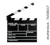 clapper board isolated on white ... | Shutterstock . vector #76338217