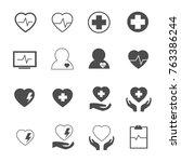 heart defect icons set vector | Shutterstock .eps vector #763386244