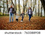 happy caucasian family of mom... | Shutterstock . vector #763388938