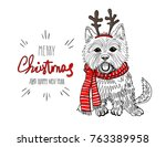 christmas card norwich terrier
