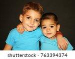 two beautiful little boys | Shutterstock . vector #763394374
