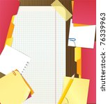 Stock vector background of an office stuff 76339963