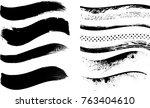 grunge paint stripe . vector... | Shutterstock .eps vector #763404610
