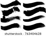 grunge paint stripe . vector... | Shutterstock .eps vector #763404628