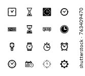 time icons   expand to any size ... | Shutterstock .eps vector #763409470