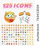 set of realistic cute icons on...   Shutterstock .eps vector #763413034