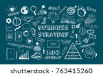 business strategy. vector hand... | Shutterstock .eps vector #763415260