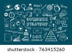 business strategy. vector hand... | Shutterstock .eps vector #763415260