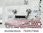 steel perforated housing wall... | Shutterstock . vector #763417666