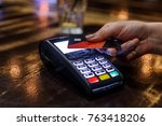 non cash transaction   credit... | Shutterstock . vector #763418206