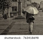 The Umbrella Man  Sepia