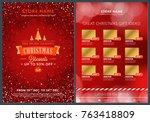 christmas sale catalog design.... | Shutterstock .eps vector #763418809