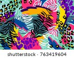 abstract vector pattern for... | Shutterstock .eps vector #763419604