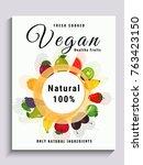 vegan poster  banner or flyer... | Shutterstock .eps vector #763423150