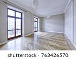 empty interior in modern house  | Shutterstock . vector #763426570