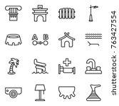 thin line icon set   column ... | Shutterstock .eps vector #763427554