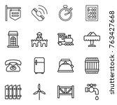 thin line icon set   shop... | Shutterstock .eps vector #763427668