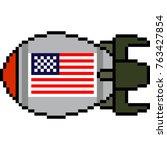 vector pixel art nuke missile...