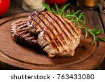 succulent portions of grilled...   Shutterstock . vector #763433080