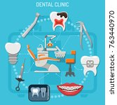 dental clinic concept with... | Shutterstock .eps vector #763440970