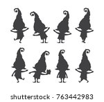 vector illustration  set of ... | Shutterstock .eps vector #763442983