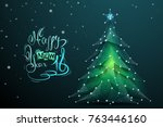 abstract image of a christmas... | Shutterstock .eps vector #763446160