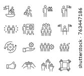 people icons line work group... | Shutterstock .eps vector #763447186