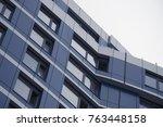 exterior of the business center.... | Shutterstock . vector #763448158