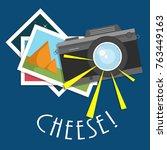 retro  vintage camera  flat...   Shutterstock .eps vector #763449163