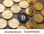 crypto currency physical... | Shutterstock . vector #763449334