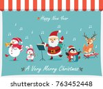 vintage christmas poster design ... | Shutterstock .eps vector #763452448