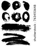 different grunge elements | Shutterstock .eps vector #763453648