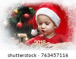 happy little child with...   Shutterstock . vector #763457116