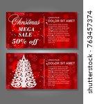 christmas sale design template... | Shutterstock .eps vector #763457374