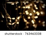 christmas lights background  | Shutterstock . vector #763463338
