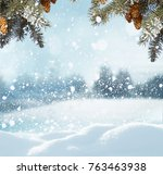 merry christmas and happy new... | Shutterstock . vector #763463938
