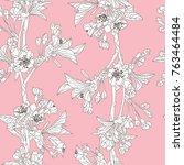 elegant seamless pattern with... | Shutterstock .eps vector #763464484