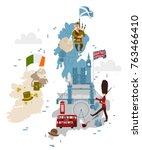 vector cartoon united kingdom...   Shutterstock .eps vector #763466410